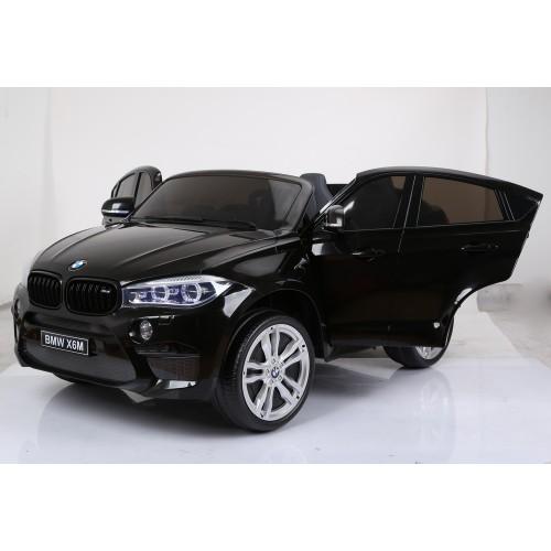 czarny lakierowny BMW X6 PŁYNNY START, KOŁA EVA,12V 10Ah, SKÓRA